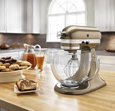 Designer Kitchen Aid Mixers Kitchenaid Artisan 5 Quart Mixer W Glass Bowl Toffee Brown