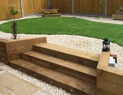 Small Picture wooden garden steps design Google Search Concrete Sleepers