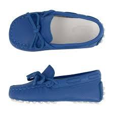 Royal Blue Designer Shoes Tods Royal Blue Leather Moccassins Boys Designer Moccasins