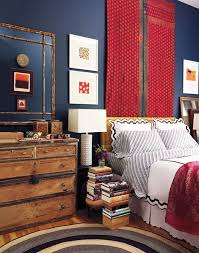 red and white furniture. A Striking Red, White And Blue Bedroom Red Furniture