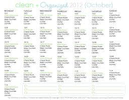 Clean   Organized   Free October Cleaning Schedule   Clean MamaMonday  October st  is the big kick off for Days to a Clean House   if you are     in      you can do this October cleaning schedule right along   the