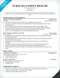 registered nurse sample resumes sample resume nurses putasgae info