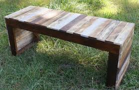 try a simple bench for your first project palletwood projects reclaimed wood