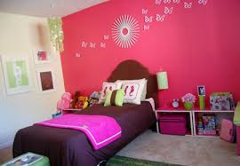 Kids Room:Creative Kids Room Accents Decor With Blue Wall And Blue Bedsheet  Also Brown