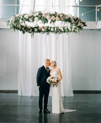 blush flower chandelier for highlighting the ceremony spot