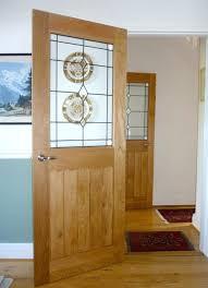 solid oak mexicano contemporary half glazed door
