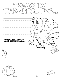 Coloring Pages Thanksgiving Color Book Free Printable Coloring