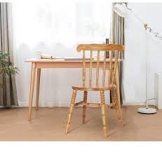 modern wooden chair front view. Solid Wood Dining Chair American Village Retro Nordic Chairs Modern Minimalist Hotel Coffee Restaurant Windsor Wooden Front View