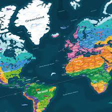 World Map Poster – in a nutshell–kurzgesagt