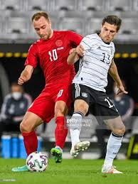 Denmark's midfielder Christian Eriksen and Germany's forward Jonas... News  Photo - Getty Images