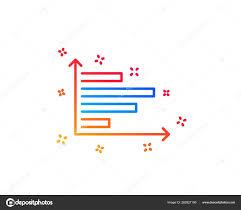 Horizontal Line Stock Chart Horizontal Chart Line Icon Column Graph Sign Market