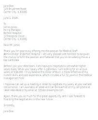 Salary Negotiation Letter Salary Negotiation Letter Examples What
