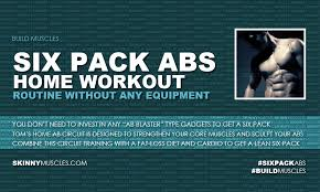 Six Pack Abs Workout Chart Six Pack Abs Home Workout Routine Without Any Equipment