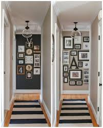 Before and after gallery wall hallway update