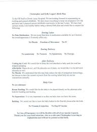 Simple Birth Plan Examples The First Commandment Natural Birth Plan Nice And Simple