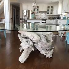 beautiful driftwood dining table hand crafted from gulf island driftwood