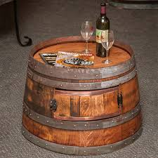 wooden barrel coffee table reclaimed half wine enthusiast preparing zoom wood round keg whiskey and end