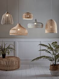 interior architecture romantic rattan lamp shade on beru lampshade conical home and lifestyle nu rattan