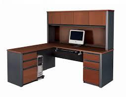 the corner desk with hutch