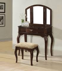 Three Way Vanity Mirror Nice Home Furniture Vanity Design Featuring Mahogany Wood Dresser