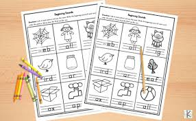 These specific word families have been chosen to help your kindergarten students sound out the short vowel sounds, as well as identify common pairings they are likely to see during their kindergarten year. Free Beginning Sounds Worksheets