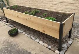 raised cedar planter box. Elevated Cedar Planter Box Still Looking Good After Months To Raised