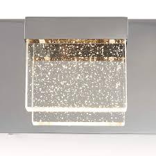 Artika 4 Light Crystal Cube Wall Modern Fixture Artika Bubble Cube 4 Led Vanity Light Amazon Com