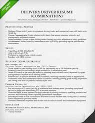 Resume For Truck Driver Resume Templates