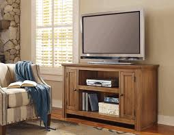 white rustic tv stand. rustic tv stand in bright wood material single sofa cream and grey vertical motif dark wooden parquet stone of one side wall carpet with white