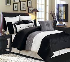 image of solid black king comforter