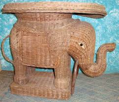 Wicker Elephant Table. Loading zoom