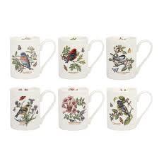 portmeirion botanic garden birds coffee mugs set of 6