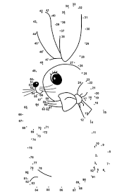 Bunny Dot To Dot Coloring Page Easy And Fun To Draw