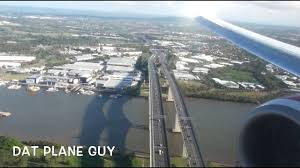 Landing at Brisbane Airport ...