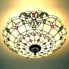 stained glass lamp pattern ceiling light three hand made 3 patterns free prairie