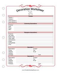Printable Wedding Planner Worksheets Download Them Or Print