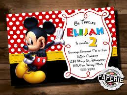 mickey mouse birthday invitation mickey mouse clubhouse mickey mouse invitation personalized 🔎zoom