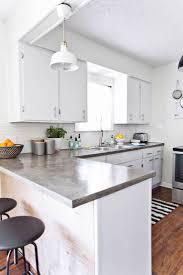 white kitchen counter decor inspiration concrete countertops diy