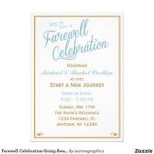 Invitation Cards Designs For Retirement Party Farewell Celebration Going Away Invitation Zazzle Com