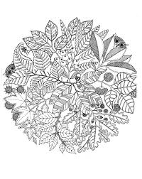 Fleurs Vegatation Mandala Fleurs Et V G Tation Coloriages
