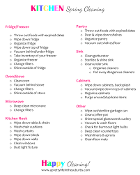 Spring Cleaning Tips Checklist