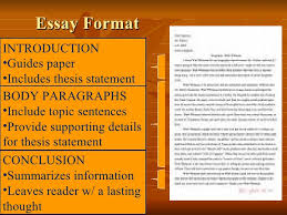 essay structure essay format