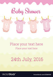 baby girl invite baby shower invitation card template for baby girl