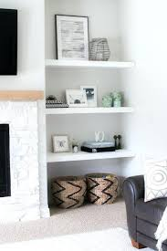 smlf built in bookcase fireplace plans styling our new floating shelves gorgeous makeover favorite designs shelving around