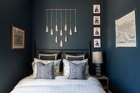 gray to this blue bedroom view in gallery