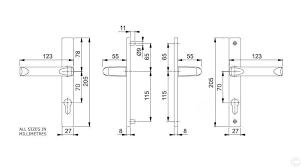 d01 hoppe ferco 70pz upvc door handles