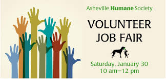 ahs volunteer job fair asheville humane society ahs volunteer job fair