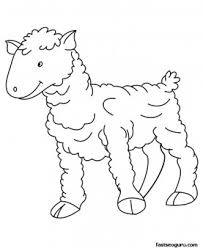 Small Picture Printable Farm animal Baby sheep Coloring page for kids