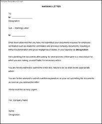 First Warning Insubordination Write Up Example Examples Employee