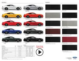 2018 Ford Color Chart Future Cars